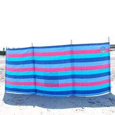 Beautiful retro stripe windbreak By The Great British Seaside company Designed in United Kingdom British Seaside, Great British, Summer Essentials, Must Haves, United Kingdom, Retro, Fabric, Cotton, Beautiful