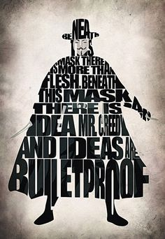Typographic Art :: V for Vendetta - by GeekMyWall