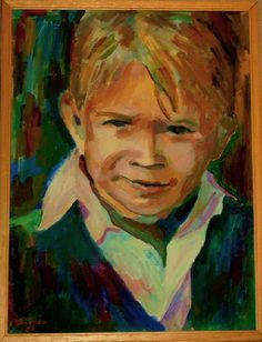 Acryl auf Leinwand - Porträt Emilio - v. skonea