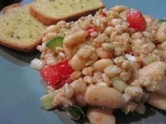 Farro and Cannellini Bean Salad from MJR Member Kathryn Lovett   Made Just Right by Earth Balance vegan plantbased