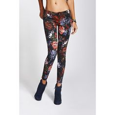 GUESS Kate Low-Rise Legging with Digital Floral Print found on Polyvore