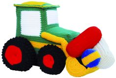 Crochet Patterns Boy Other – Tractor to cuddle and play ♥♥♥ crochet ♥♥♥ – a de … Crochet Car, Crochet For Boys, Love Crochet, Crochet Gifts, Crochet Dolls, Crochet Blanket Patterns, Crochet Stitches, Imprimibles Toy Story Gratis, Cute Toys