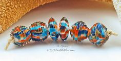 $30 Summer Spice Set   http://host.pappapak21.com/~bastille/item_140/Summer-Spice-Set--handmade-lampwork-art-beads-jewelry-by-Bastille-Bleu-Lampwork.htm