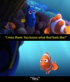 """And Dory is remembering things for the first time. 