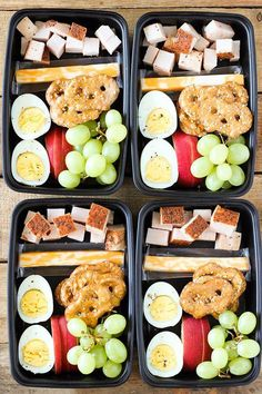 Meal prep ideas + keto recipes for fat loss & muscle building. make ahead deli style protein box Healthy Protein Snacks, Healthy Lunches For Kids, Make Ahead Lunches, Prepped Lunches, Lunch Snacks, Lunch Recipes, Healthy Eating, Protein Box, Easy Snacks