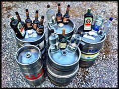 Liquor run for Cincinnati's biggest tailgate at The Bengal Trailer...