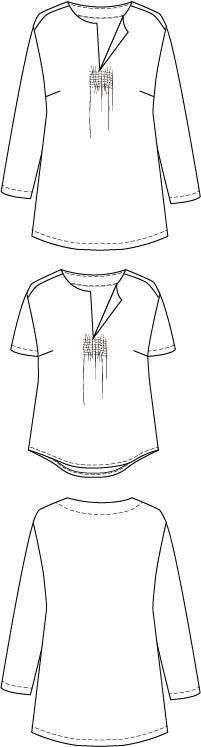 Piper Boho Tunic PDF sewing pattern variations