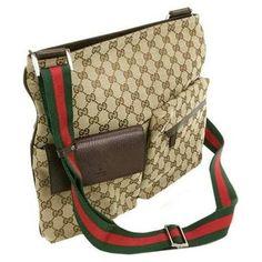 Gucci Cross Body Messenger - Ladies Stylish Handbags... http://ladiesstylish.com/handbags.html #LadiesStylish #Designer #Handbags