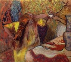 Edgar Germain Hilaire Degas.  Frau bei der Toilette. Um 1894, Pastell, 95,5 × 110 cm. London, Tate Gallery. Frankreich. Impressionismus.  KO 01285