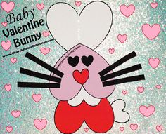 Baby Valentine Bunny Cutout Craft For Kids. Can be used with  the scripture- Love The Lord 1 Cor 13:4