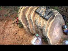 How to Cut Boards & Planks With a chainsaw freehand - YouTube