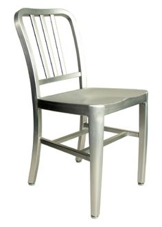 Choose this aluminum restaurant chair for your outdoor patios or restaurants or cafe. A great look for your home patio or pool side You will not find other chairs this stylish that can be stored away so easily! 18 W x 18 D x 29.5 H in. 18 in. Seat HeightChoose this stylish aluminum chair that is lightweight yet durable. Crafted for commercial outdoor use, this chair is perfect for home or commercial settings. This chair is manufactured in a lightweight commercial grade aluminum.Item