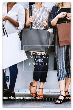 Je vous parle de pinterest pour le shopping, une manière de voir les choses autrement Happy, Blog, Lifestyle, Fashion, Wish Shopping, Group, Moda, Fashion Styles, Ser Feliz