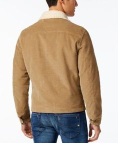 American Rag Men's Corduroy Trucker Jacket, Created for Macy's - Gold XL