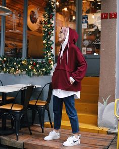 Image may contain: 1 person, standing and shoes – Hijab Clothing – Hijab Fashion 2020 Modern Hijab Fashion, Street Hijab Fashion, Muslim Fashion, Modest Fashion, Fashion Outfits, Style Fashion, Casual Hijab Outfit, Hijab Chic, Hijab Dress