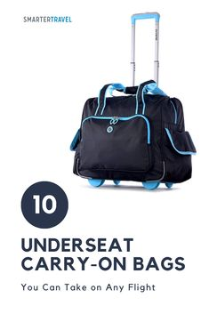 If you're worried your carry-on could be gate-checked on your next flight, check out these 10 top-rated underseat carry-on bags. Whether you're a chronic over-packer or tried-and-true business traveler, there's an underseat luggage option for every type of flyer. Packing Tips, Travel Packing, Travel Luggage, Underseat Carry On, Flight Bag, 10 Top, What To Pack, Carry On Bag, Top Rated