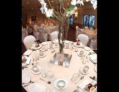 Pretty pastel decor shades compliment the lovely Freed Orman Conference Centre http://weddingshows.com