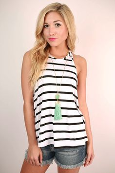 For the girl who knows what she's talking about, take charge and look fabulous in this striped top!