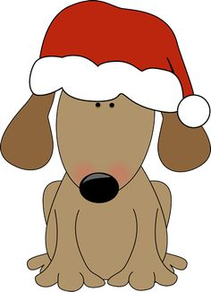 free christmas clip art dogs dog in santa hat clipart clipart rh pinterest com christmas dog bone clipart christmas dog clipart black and white