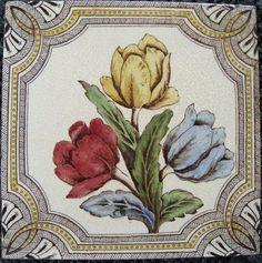 Floral Victorian Ceramic Tile