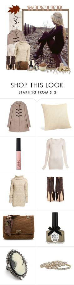 """Welcome November!"" by peonyandpython ❤ liked on Polyvore featuring Miu Miu, NARS Cosmetics, Miss Selfridge, Reiss, Brian Atwood, Lanvin, Ciaté, Jon Richard, Worthington and pullover duffle coat cream november stones blonde winter ankle boots nars ice cold"