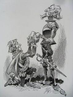 Don Quixote by Jack Davis.