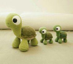 Amigurumi örgü oyuncak kaplumbağa tarifi anlatımlı