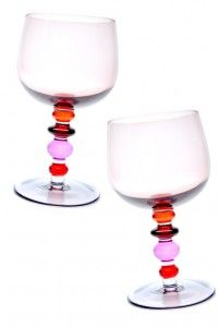 Pink & orange wine glasses - fav summer colors