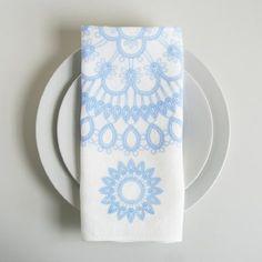 doily napkins set of 4 - blue from soraam