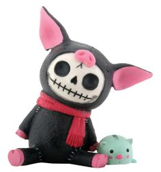 Furry Bones Black Bacon Figurine