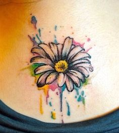Colourful flower  tattoo