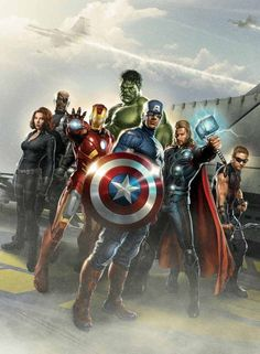 I couldn't just choose one so I chose everybody from The Avengers.