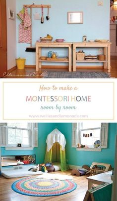 How to make a Montessori home room by room. Click through to read now or pin for later. Find more at http://www.welliesandlemonade.com/