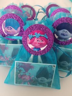 15 Trolls Boys Girls Birthday Party Goody Favor Bags FREE Cupcake Toppers Loot #Unbranded