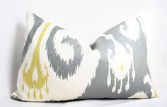 Grey Ikat Designer Pillow Cover 11x17 by AriannaBelle on Etsy, $47.00
