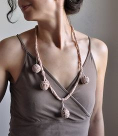 freeform crocheted eco - necklace