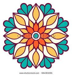Discover recipes, home ideas, style inspiration and other ideas to try. Mandala Art Lesson, Mandala Drawing, Mandala Painting, Dot Painting, Stained Glass Patterns, Mosaic Patterns, Pattern Art, Embroidery Patterns, Pattern Design