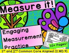 This is a collection of engaging measurement works. 2.MD.1 2.MD.4 2.MD.9 Each page contains scenery that the student will have to measure different aspects of. They will then compare two different objects in part two of the task.There is a bonus page included which has the student create a picture which they will then measure 5 objects from.