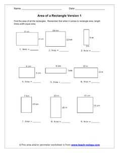7th grade area and perimeter worksheets | area and perimeter ...