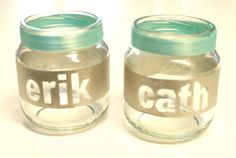 Radical Crafts: Baby Food Jar Recycling Personalized tea light holders