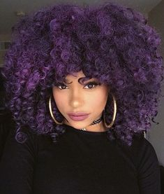 Afro punk Afro of the day, purple curls I'd never be able to have this hair but it's absolutely gorgeous!