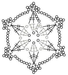 """Képtalálat a következőre: """"crochet snowflake"""" Crochet Angels, Crochet Stars, Thread Crochet, Crochet Stitches, Crochet Diagram, Crochet Motif, Crochet Doilies, Crochet Flowers, Crochet Snowflake Pattern"""
