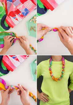 Turn a Vintage Scarf into a Necklace