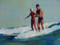 Tandem Surfers