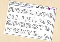 Molde de Letras e Números estilo Batman - Molde de Letras