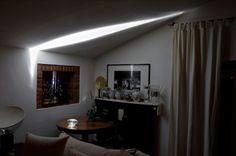 Интерьер, освещенный с помощью луча
