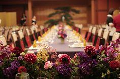 新郎新婦様からのメール 目黒雅叙園さまへ、冬の装花 大勝浪漫風 : 一会 ウエディングの花