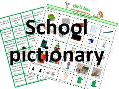 CLASSROOM GAMES - SCHOOL PICTIONARY -  Vocabulaire Ecole - PRIMAIRE