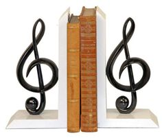 1000 images about bookends on pinterest bookends metal art and joss and main - Treble clef bookends ...