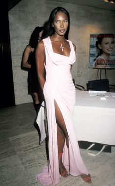 The icon goes for Greek goddess look at the Marie Claire Fashion & Beauty Awards in 1997.